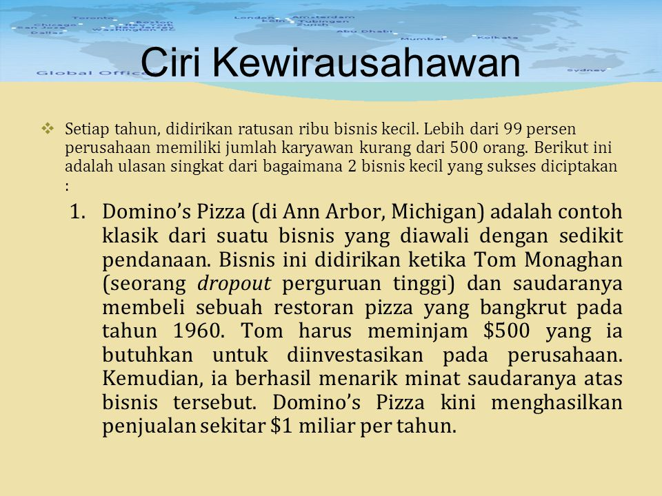 Ciri Kewirausahawan