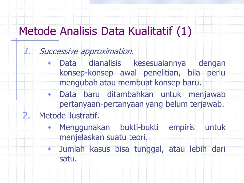 Metode Analisis Data Kualitatif (1)