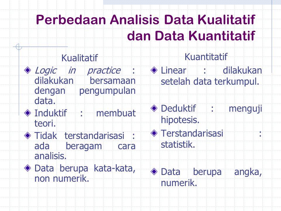 Perbedaan Analisis Data Kualitatif dan Data Kuantitatif