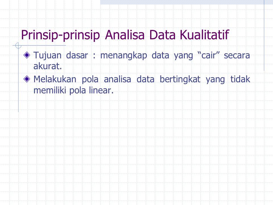 Prinsip-prinsip Analisa Data Kualitatif