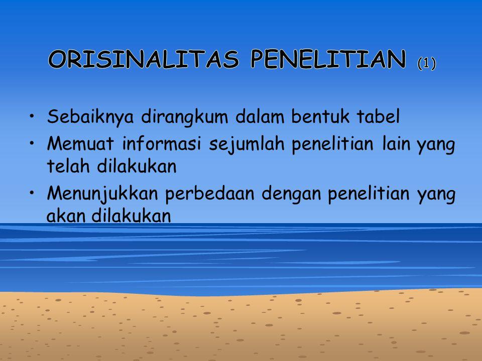 ORISINALITAS PENELITIAN (1)