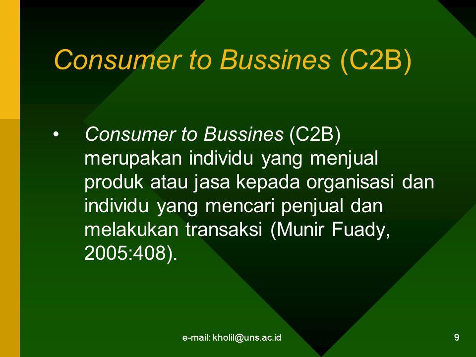 Consumer to Bussines (C2B)