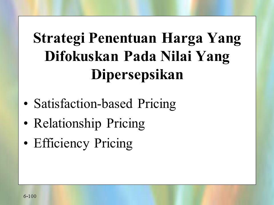 Strategi Penentuan Harga Yang Difokuskan Pada Nilai Yang Dipersepsikan