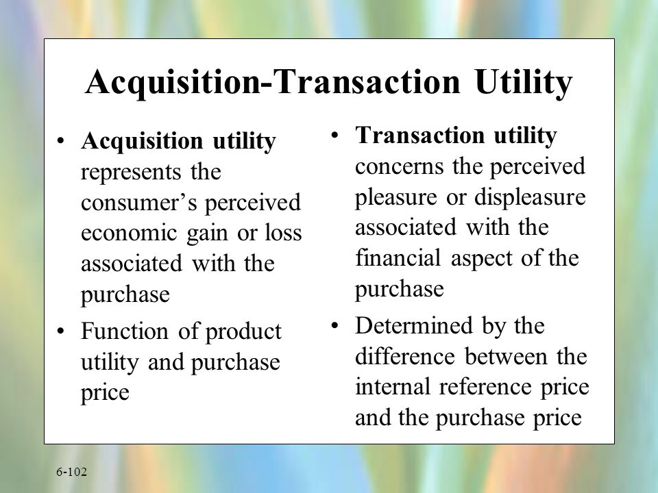 Acquisition-Transaction Utility