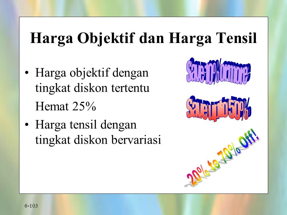 Harga Objektif dan Harga Tensil