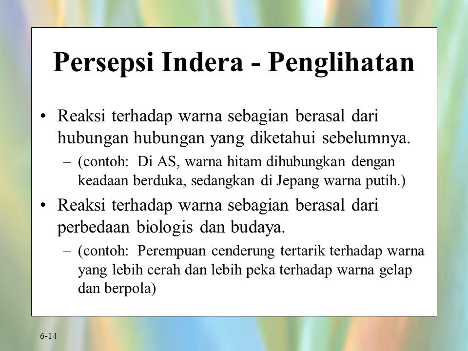 Persepsi Indera - Penglihatan