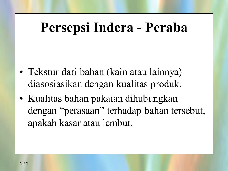 Persepsi Indera - Peraba