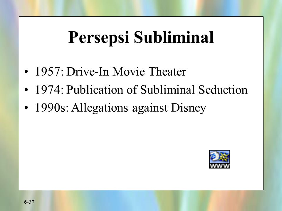 Persepsi Subliminal 1957: Drive-In Movie Theater