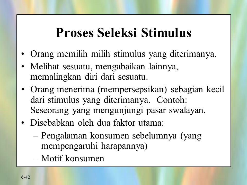 Proses Seleksi Stimulus