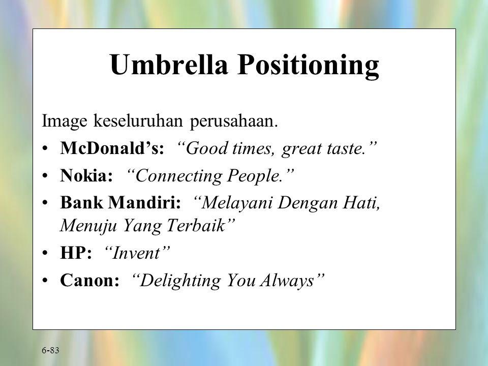 Umbrella Positioning Image keseluruhan perusahaan.