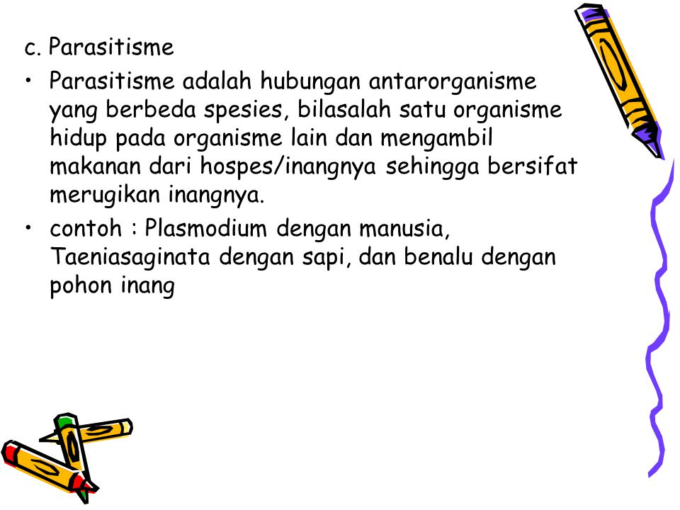 c. Parasitisme
