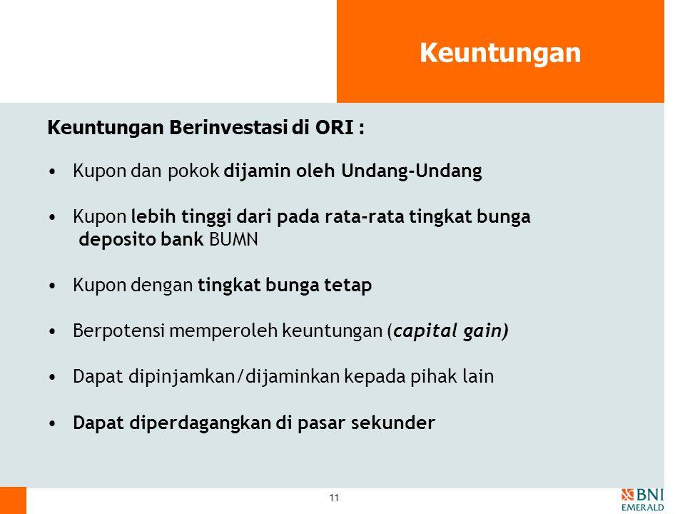 Keuntungan Keuntungan Berinvestasi di ORI :