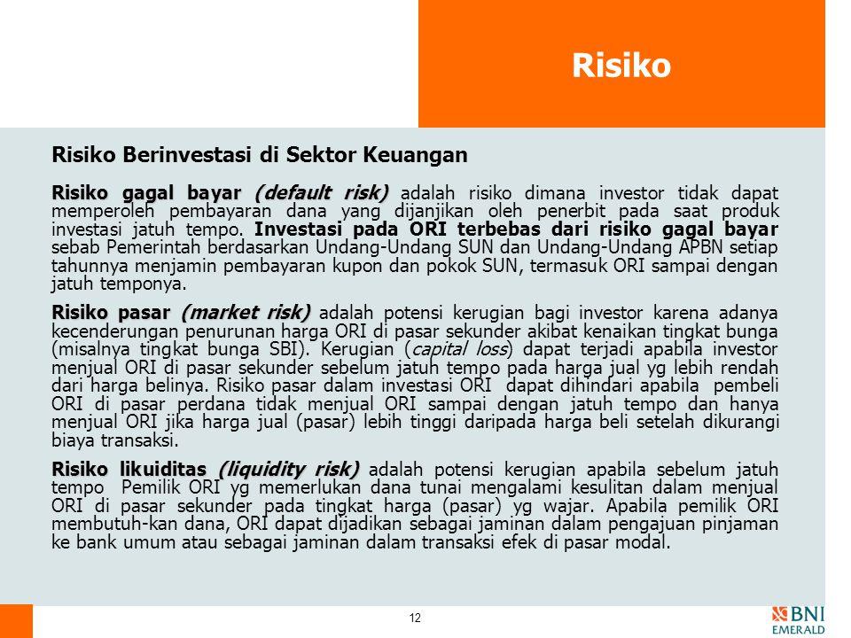 Risiko Risiko Berinvestasi di Sektor Keuangan