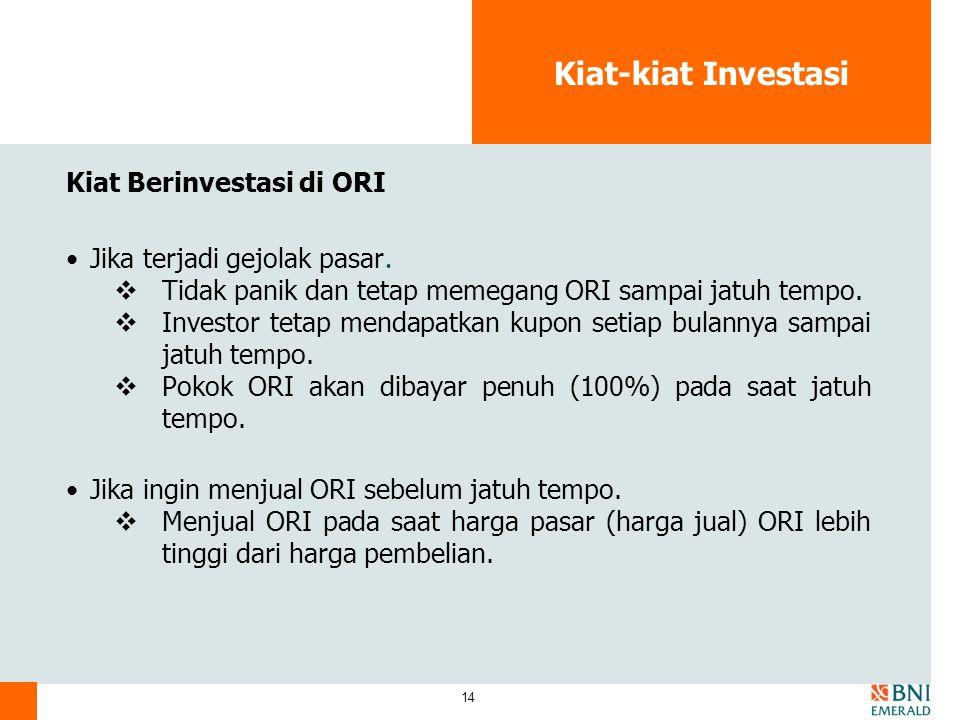 Kiat-kiat Investasi Kiat Berinvestasi di ORI