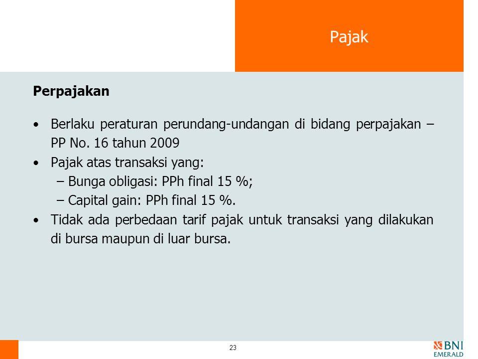 Pajak Perpajakan. Berlaku peraturan perundang-undangan di bidang perpajakan – PP No. 16 tahun 2009.
