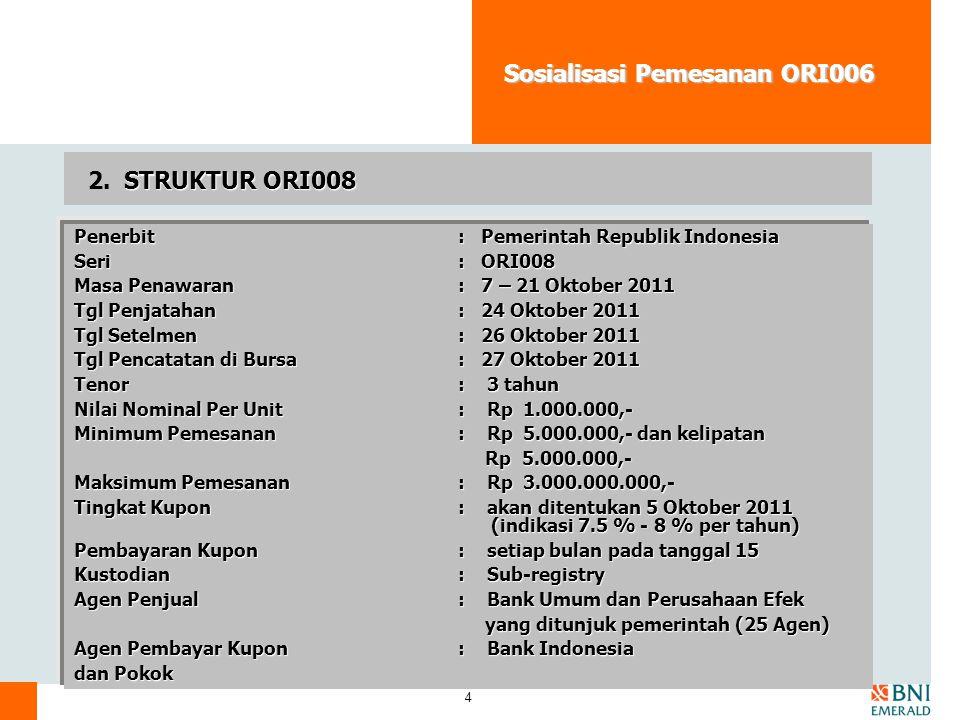 Sosialisasi Pemesanan ORI006