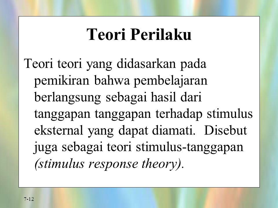 Teori Perilaku