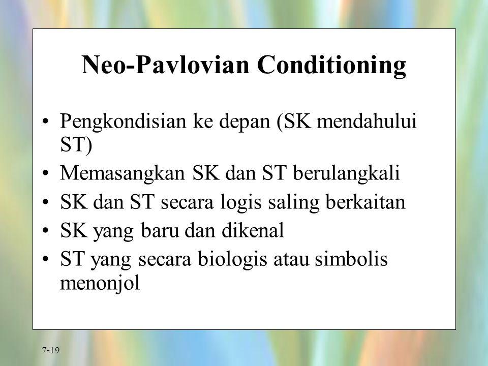 Neo-Pavlovian Conditioning