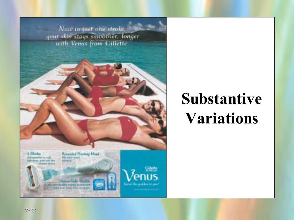 Substantive Variations