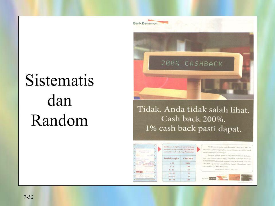 Sistematis dan Random