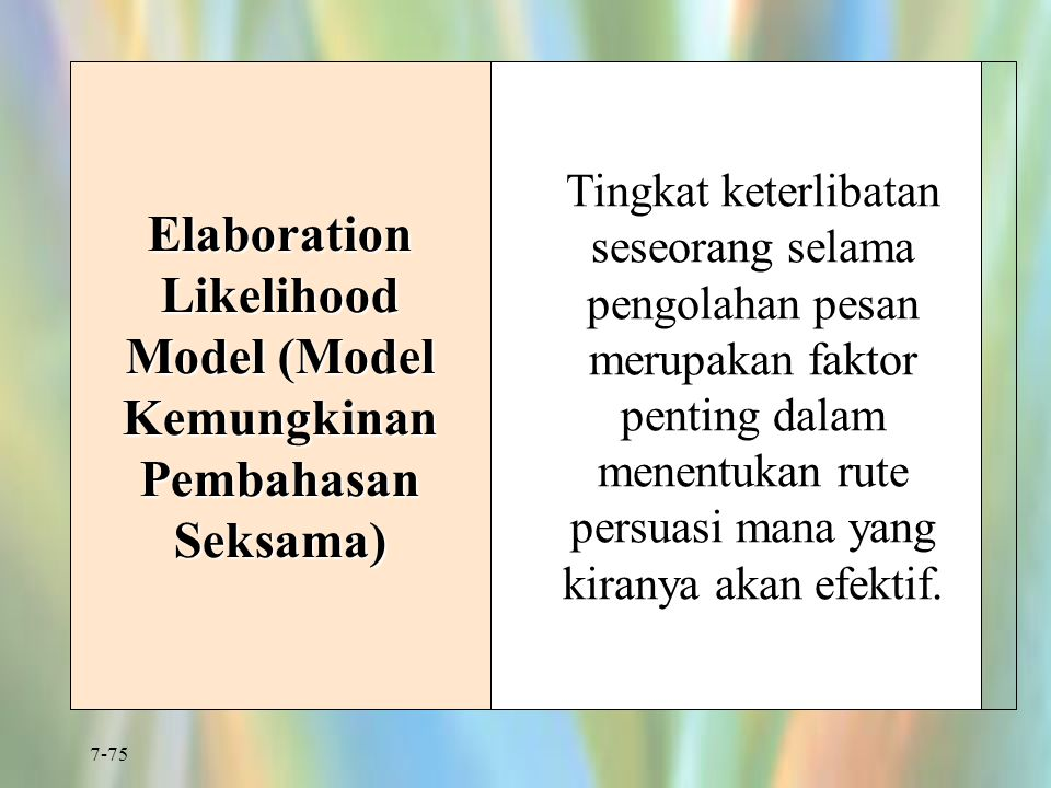 Elaboration Likelihood Model (Model Kemungkinan Pembahasan Seksama)