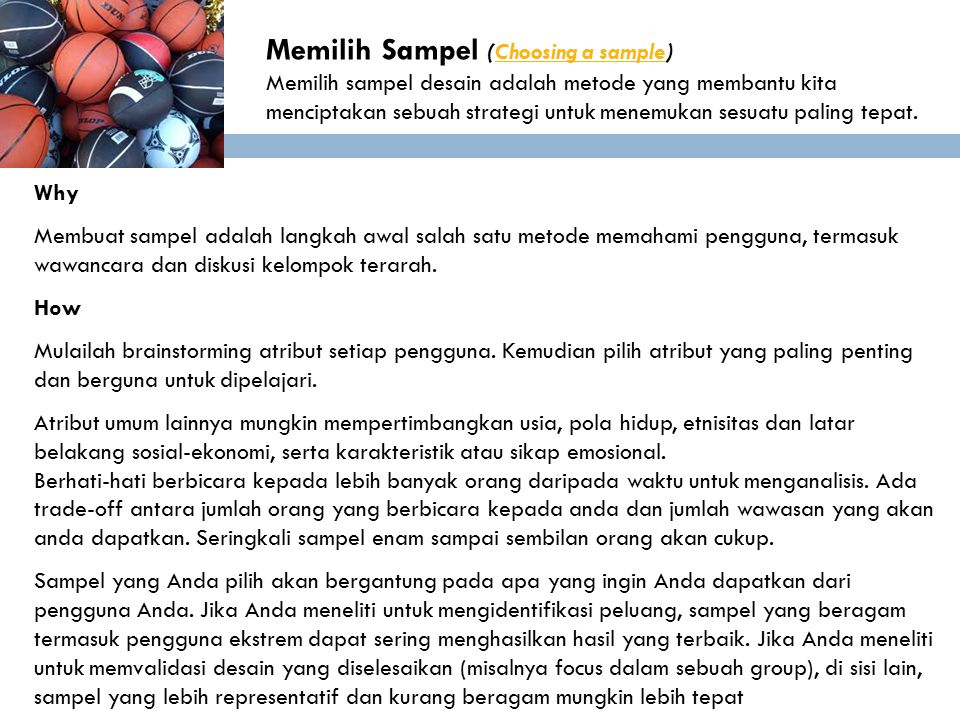 Memilih Sampel (Choosing a sample)