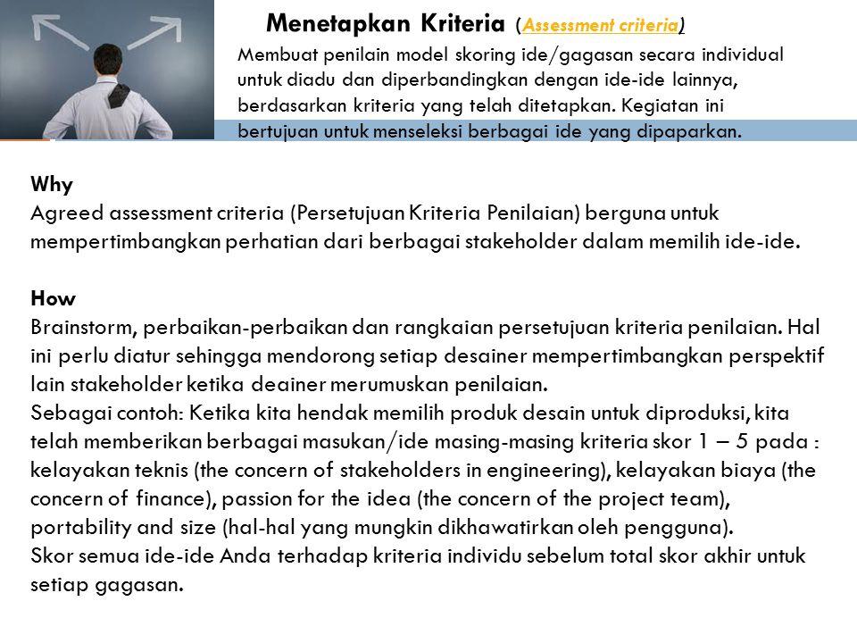 Menetapkan Kriteria (Assessment criteria)