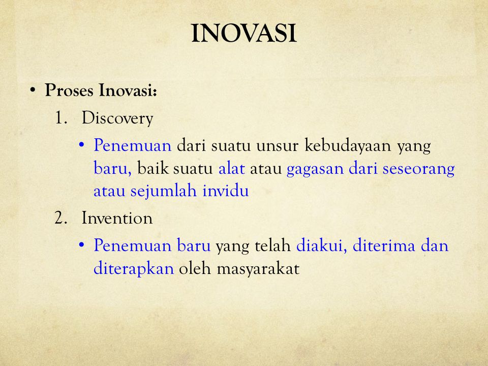 INOVASI Proses Inovasi: Discovery
