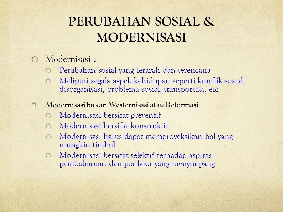PERUBAHAN SOSIAL & MODERNISASI