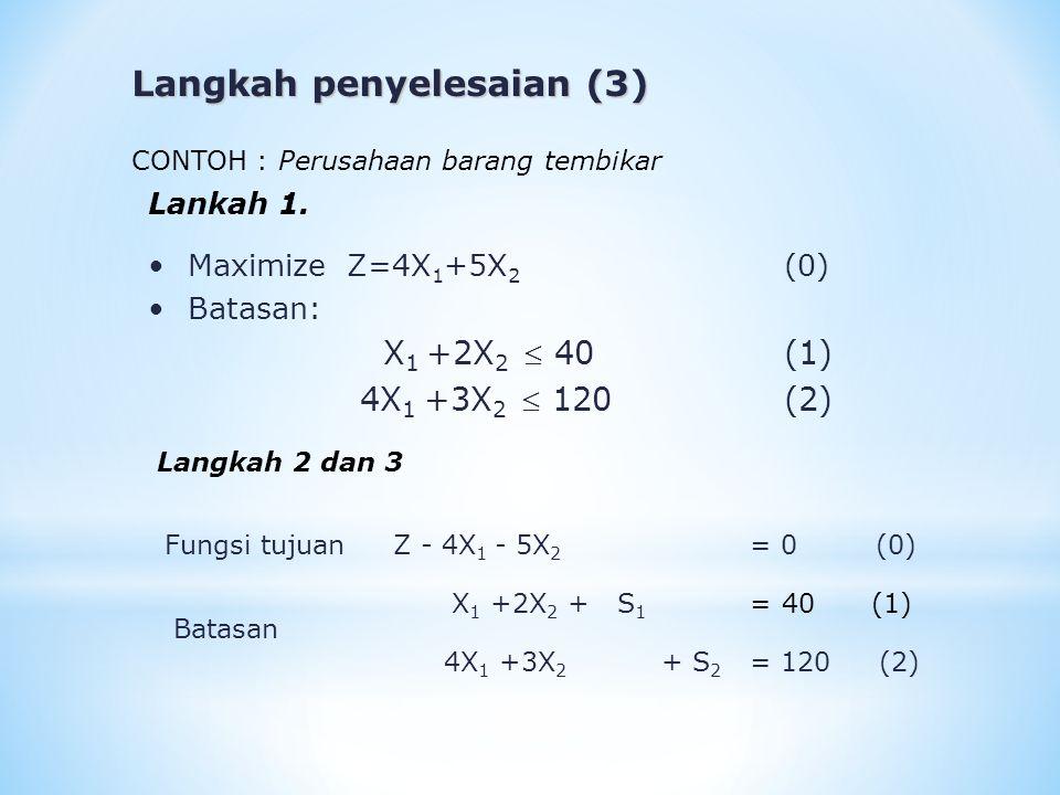 Langkah penyelesaian (3)