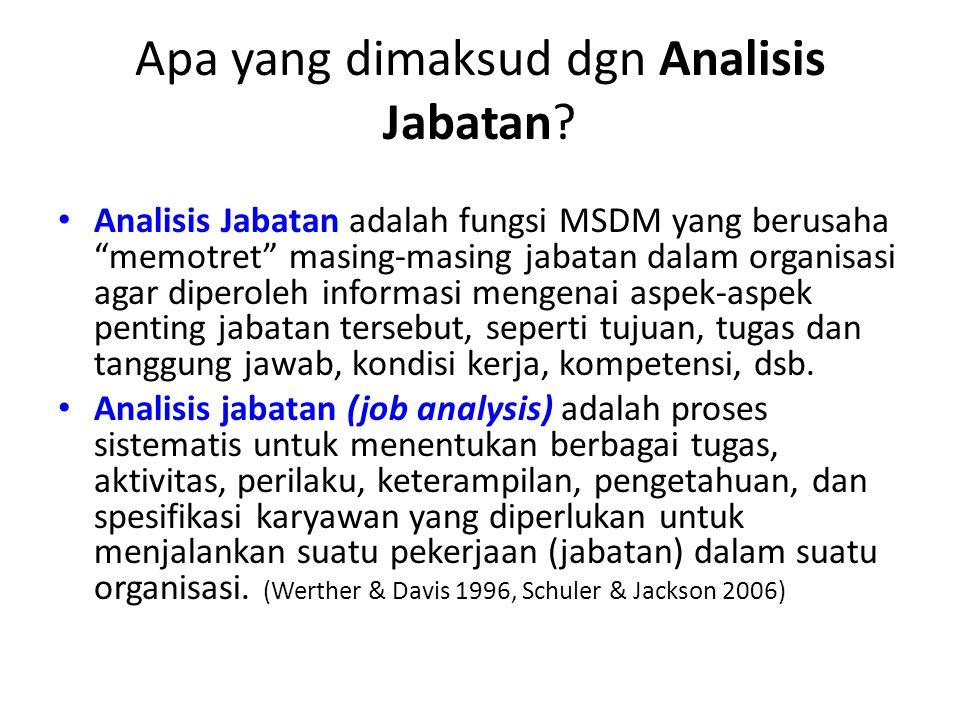 Apa yang dimaksud dgn Analisis Jabatan
