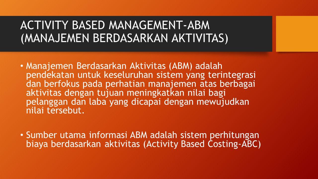 ACTIVITY BASED MANAGEMENT-ABM (MANAJEMEN BERDASARKAN AKTIVITAS)