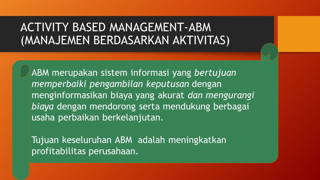activity based management abm essay