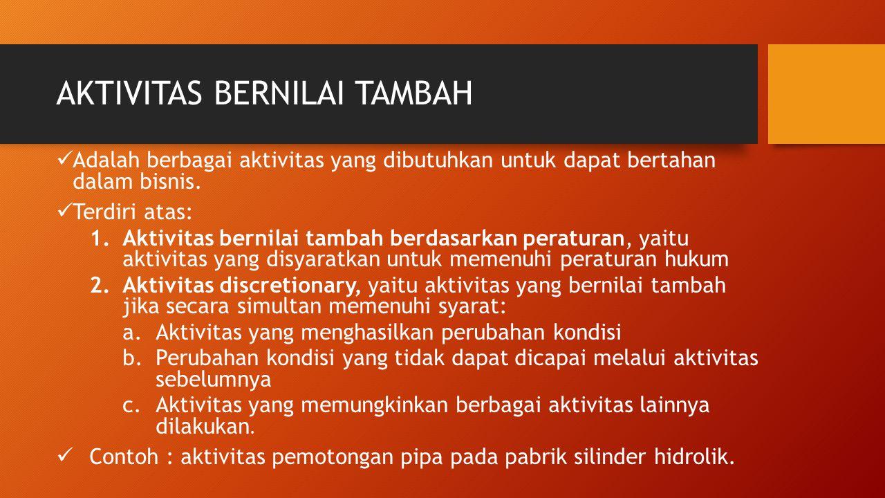 AKTIVITAS BERNILAI TAMBAH
