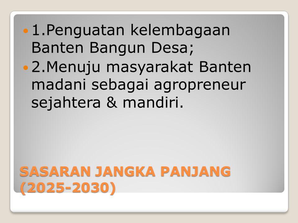 SASARAN JANGKA PANJANG (2025-2030)