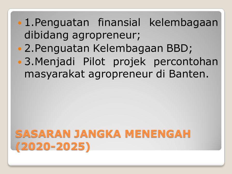 SASARAN JANGKA MENENGAH (2020-2025)