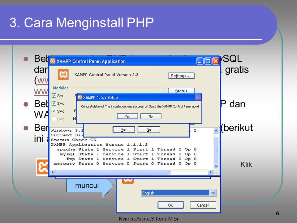 3. Cara Menginstall PHP