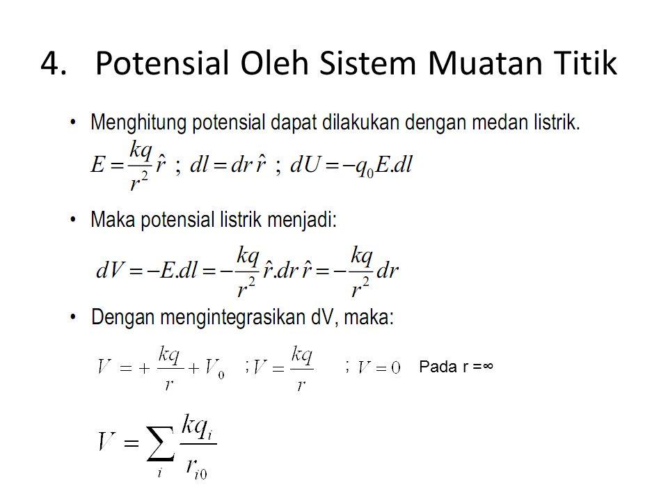 Potensial Oleh Sistem Muatan Titik