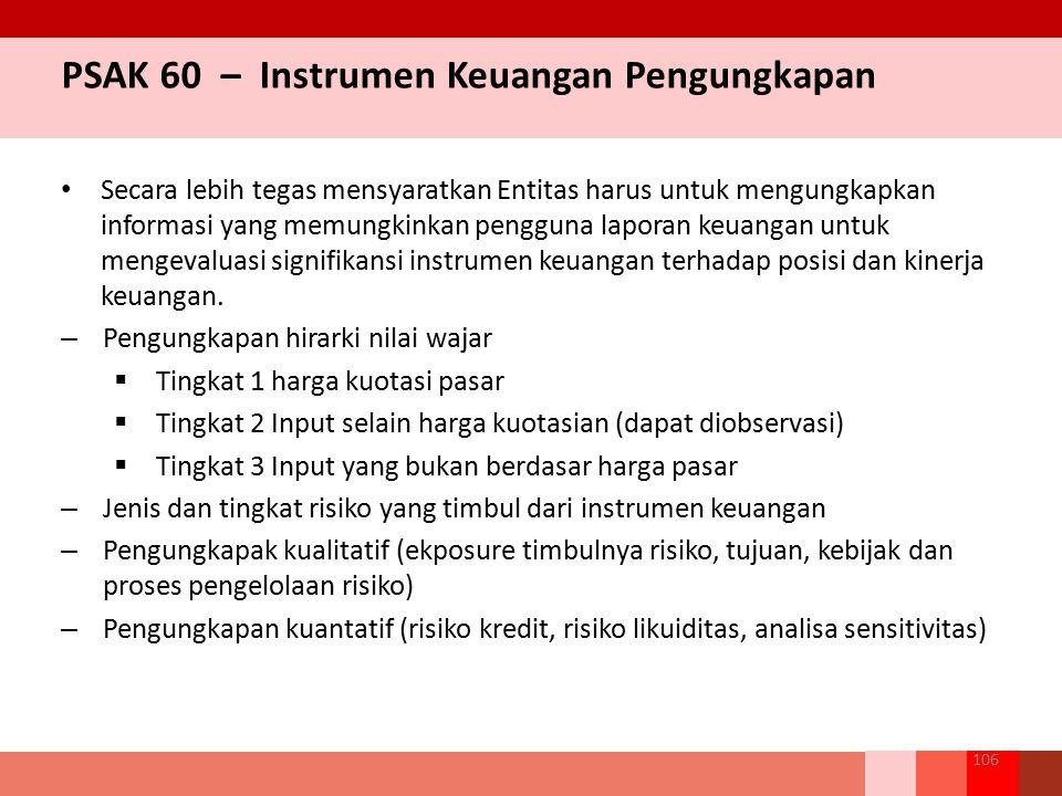 PSAK 60 – Instrumen Keuangan Pengungkapan