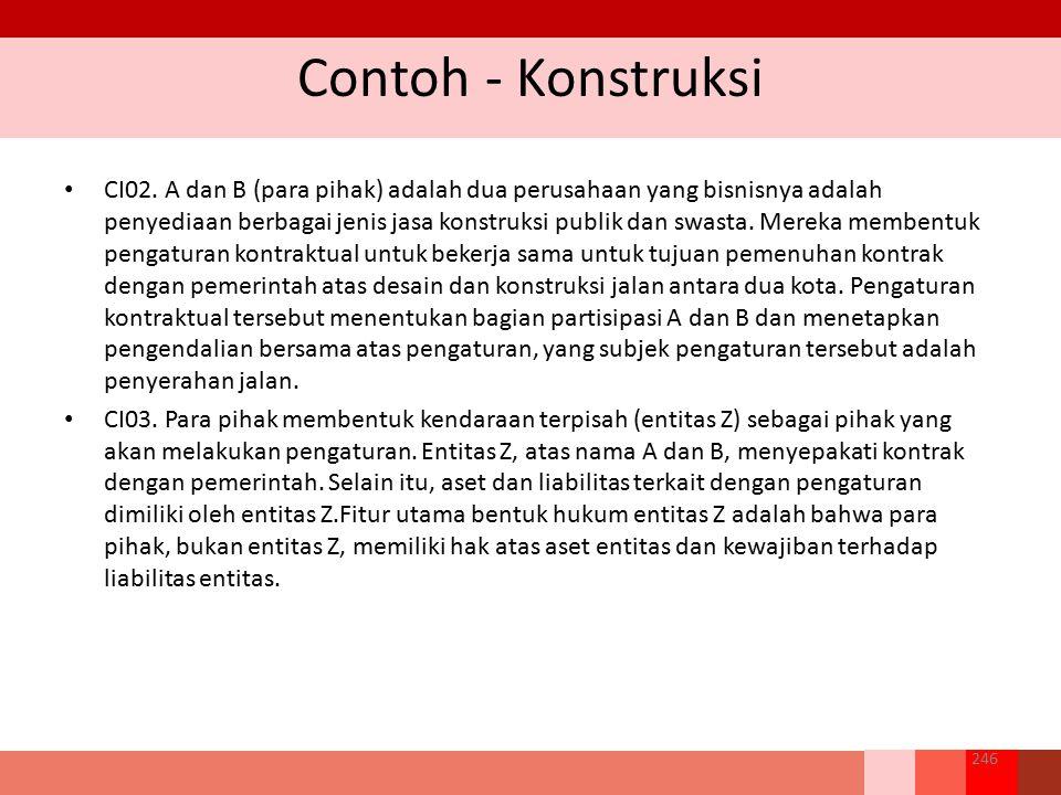 Contoh - Konstruksi