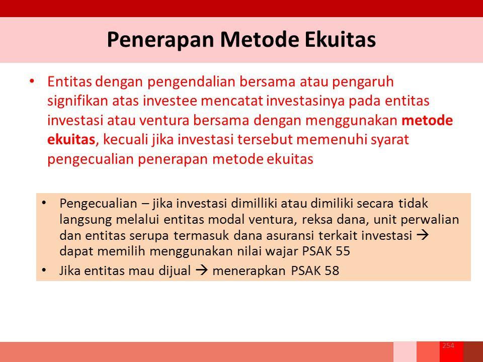 Penerapan Metode Ekuitas
