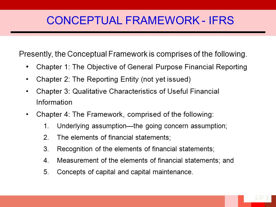 CONCEPTUAL FRAMEWORK - IFRS