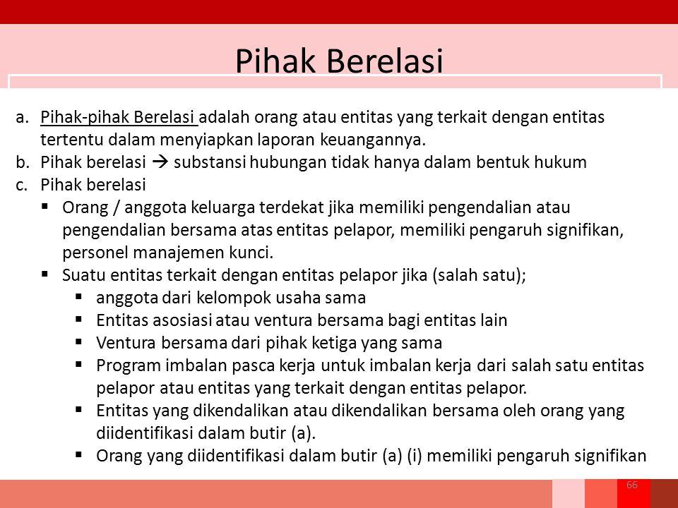 Pihak Berelasi Pihak-pihak Berelasi adalah orang atau entitas yang terkait dengan entitas tertentu dalam menyiapkan laporan keuangannya.