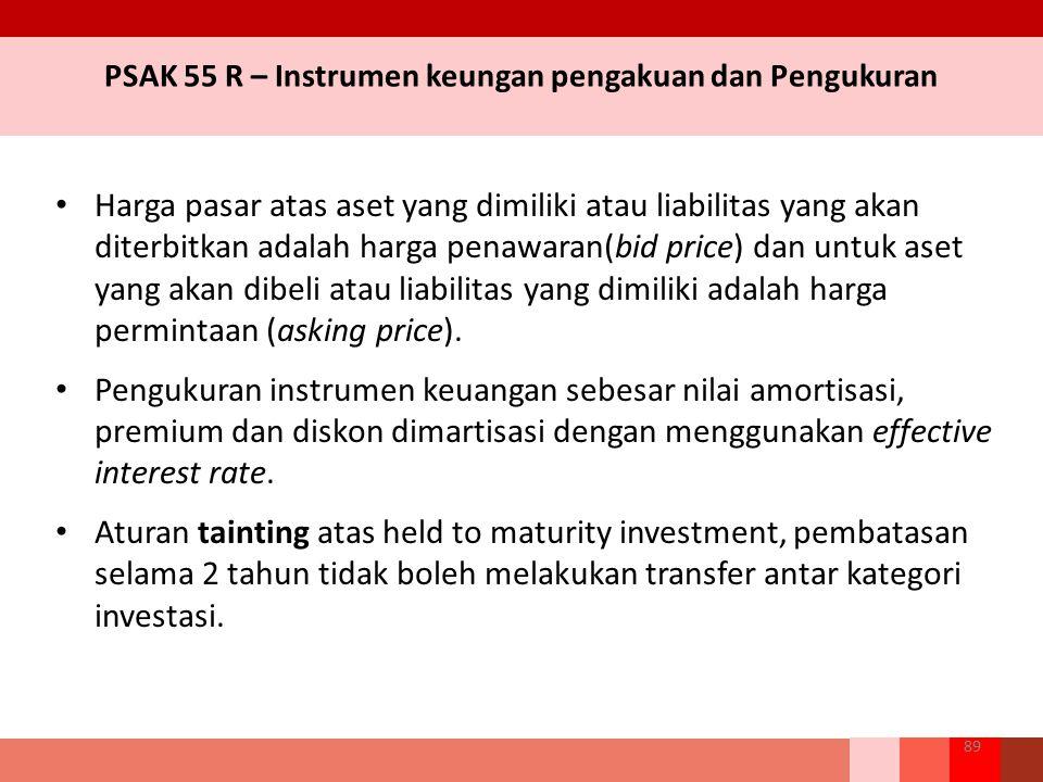 PSAK 55 R – Instrumen keungan pengakuan dan Pengukuran