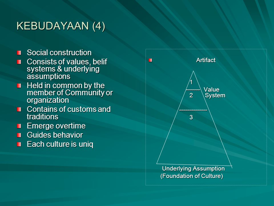 KEBUDAYAAN (4) Social construction