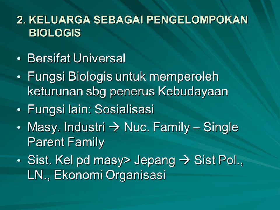 2. KELUARGA SEBAGAI PENGELOMPOKAN BIOLOGIS