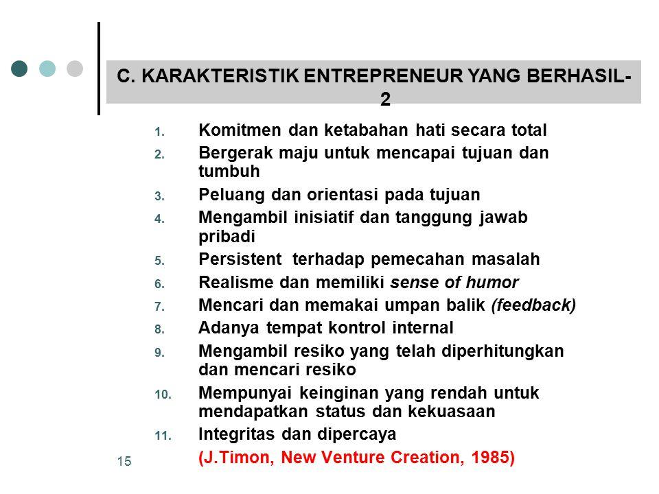 C. KARAKTERISTIK ENTREPRENEUR YANG BERHASIL-2