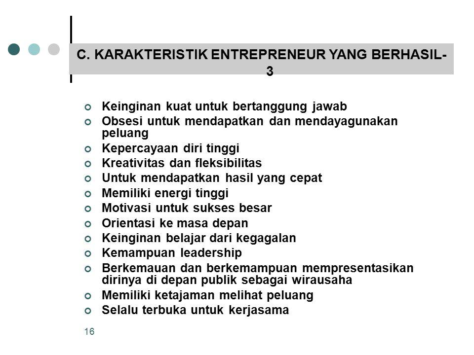 C. KARAKTERISTIK ENTREPRENEUR YANG BERHASIL-3