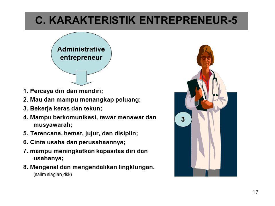 C. KARAKTERISTIK ENTREPRENEUR-5