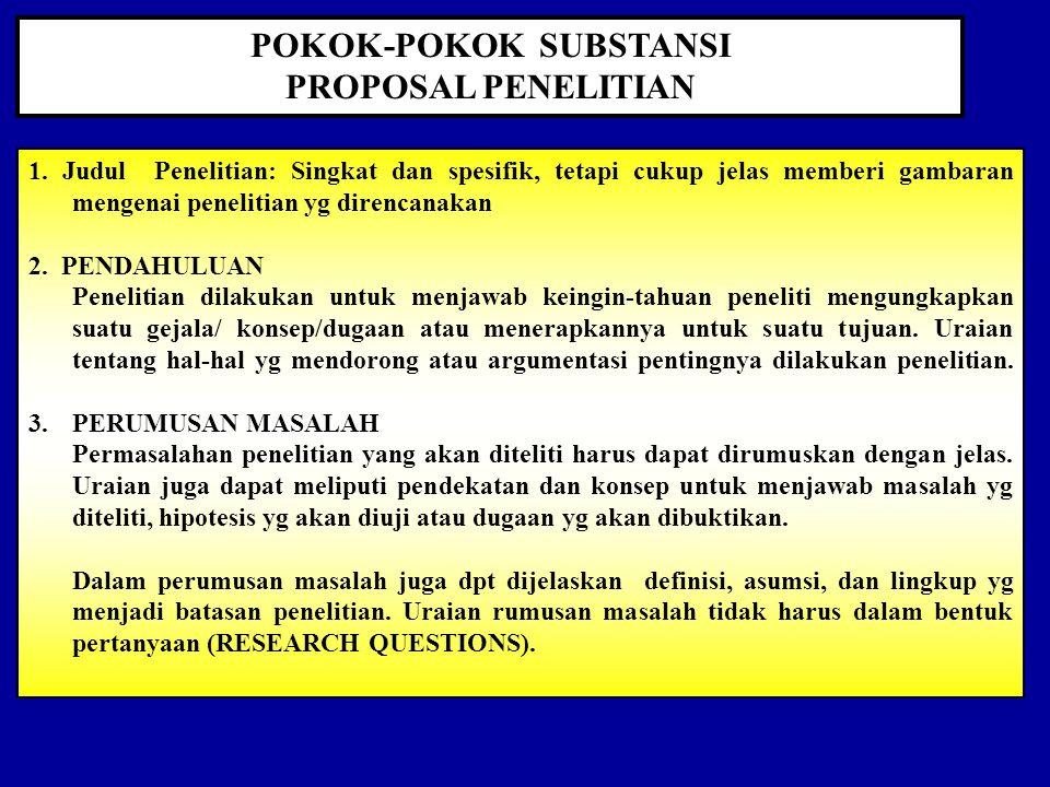 POKOK-POKOK SUBSTANSI